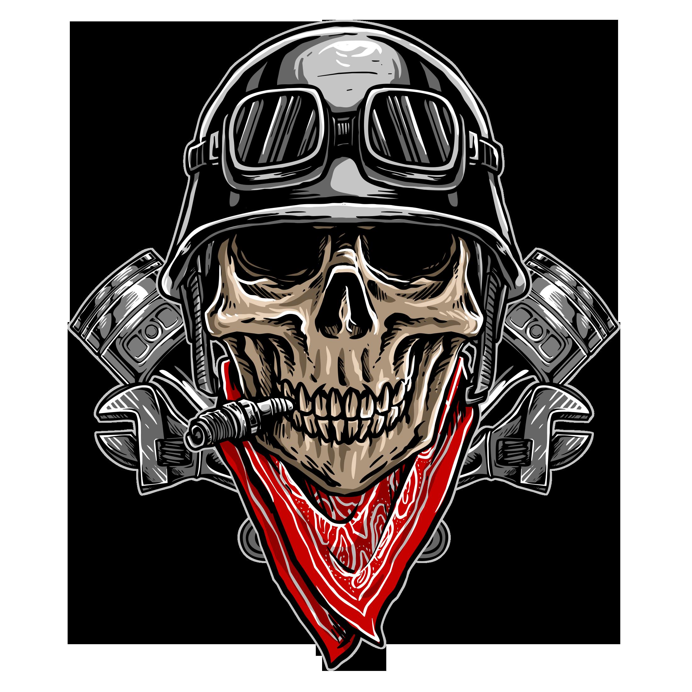 Biker-skull-logo-on-transparent-backgrou